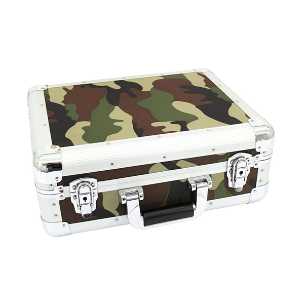 CD case in camouflage aluminum housing for about 90 CDs – ROADINGER 30122058 CD case in camouflage aluminum housing for about 90 CDs – ROADINGER 30122058